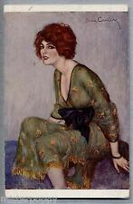 RENE' CARRERE Studio Etude d'apres Mlle Marcelle R. PC Circa 1915 Salon de Paris