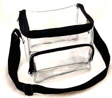 Medium Clear Lunch Bag / Lunch Box with Adjustable Strap and Front Storage Co...