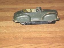 Vintage Arcor Safe Play Dark Green Rubber Convertible Car AS IS!
