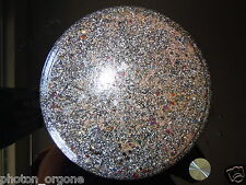 "Orgone Food/Water Charging Disc/Plate 9"" Shungite Magnetite Pyrite Copper Brass"