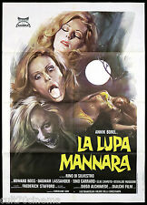 LA LUPA MANNARA MANIFESTO CINEMA LICANTROPIA HORROR ITALIA 1976 MOVIE POSTER