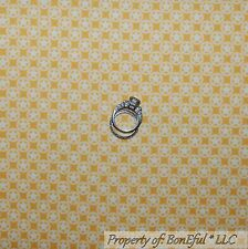 BonEful Fabric FQ Flannel Cotton Quilt Yellow White Star Dot Baby Cowboy Calico