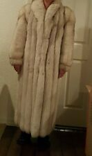 Stunning vintage 1 Owner Blue Fox Full Length Fur Coat size large