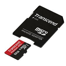 Genuine Transcend Premium Micro SD SDXC Class10 64GB UHS-I 400X TF Card memory