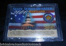"STATE SERIES QUARTER ""MARYLAND"" H.E. HARRIS & CO. COLOR COIN, SEALED IN CASE!"