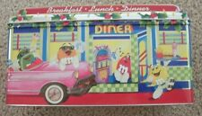 1996  M & M Christmas Village Series #4 1950s Diner Tin Canister Limited Edition