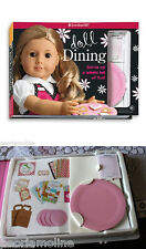 NEW American Girl DOLL DINING CRAFT KIT & Book Set, Diner, Grace, Maryellen