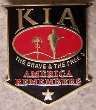 Car Grill Badge Military Killed in Action NEW metal including mounting hardware