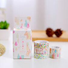 4pcs Roll Washi Sticky Paper Adhesive Tape DIY Scrapbooking Sticker Easy to Use