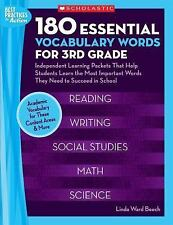 180 Essential Vocabulary Words for 3rd Grade: Independent Learning Packets That