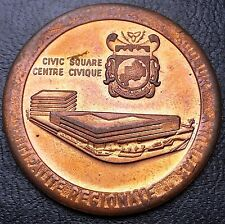 Sudbury, Ontario, Canada, Trade Token Medal, Civic Square, Combined S/H