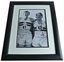 Roger Bannister & Chataway SIGNED FRAMED Photo Autograph 16x12 Huge display COA