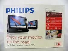 "Philips Portable Car DVD Player with Dual Widescreen 9 "" ( PD9012/37) Black"