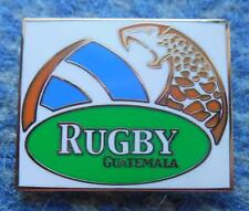 GUATEMALA RUGBY FEDERATION UNION RARE GOLD VERSION ENAMEL PIN BADGE