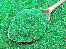 German Glass Glitter Emerald GREEN Fine 90 Grit Christmas Craft Vintage Style1oz