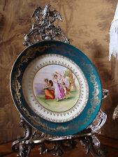 Porzellan Wandteller Bacchantinnen Amor Engel Angelika Kauffmann Teller um 1890