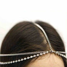 Stylist Popular Rhinestone Silver Head Chain Headband Headpiece Hair Band UK