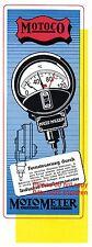 Thermometer Motoco von Schlaich Stuttgart Reklame von 1944 Motometer Werbung