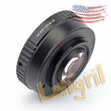 US Focal Reducer Speed Booster Lens Adapter For M42 Lens to Micro 4/3 GX7 EP-5