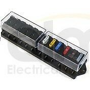 12 WAY BLADE FUSE HOLDER BOX FUSEBOX  - MARINE KIT CAR BOAT HGV 12/24V