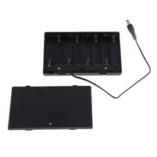 8 AA Cells Battery 12V Clip Holder Box Case Cover With ON/OFF Switch Wire Lead