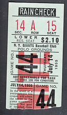 New York Giants vs Chicago Cubs July 14 1955 Polo Grounds Ticket Stub