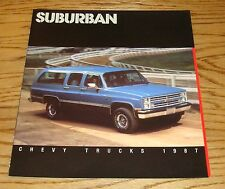 Original 1987 Chevrolet Truck Suburban Sales Brochure 87 Chevy