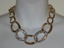 Banana Republic Glamour Crystal Pave Link Hook Statement Necklace NIP $120