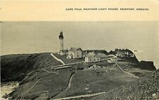 1907-15 Print Postcard Cape Foul Weather Light House Newport OR Lincoln Co Unusd