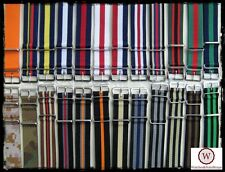 Cinturini NATO Bond Multicolor:16-18-20-21-22-24-26mm.Nylon Straps. 77colors