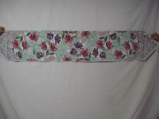 """USA Made NWT Tulips & Lace 13"""" x 72"""" Tapestry Table Runner #70"""