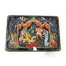 "Russian Lacquer box ""Sadko"". Style Palekh.Fully hand painted #2"