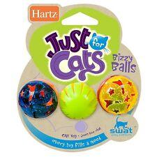 Hartz Just For Cats Bizzy Balls Cat Toys 3 ea