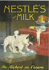 ROBERT  OPIE  ADVERTISING  POSTCARD  -  NESTLE'S  SWISS  MILK