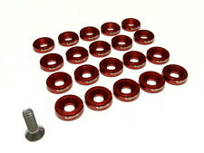 20PC VMS RACING FENDER WASHER * BOLT & WASHER KIT * - RED