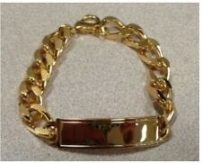 "SPEIDEL 8.5"" MENS GOLDTONE BRACELET WITH POLISHED FRONT **NEW** MADE IN USA"