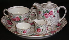 James Kent Bachelor Tea for One Complete Set Rambler Rose 5021 Chintz-Early Mark