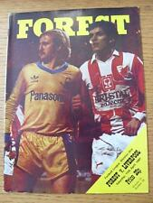 11/04/1981 Nottingham Forest v Liverpool  (No obvious faults)