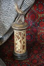 Old Javanese Bamboo & Carved Wooden Beetle Nut Container… collector's piece...