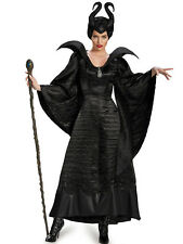 Ladies MALEFICENT MALIFICENT Sorceress COSTUME FANCY DRESS OUTFIT DELUXE  10/12