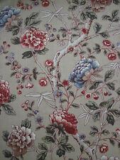 "WILLIAM MORRIS CURTAIN FABRIC ""Tangley"" 3.2 METRES MANILLA/WOAD 100% LINEN"