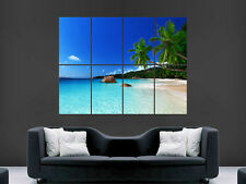TROPICS BEACH SEA NATURE LUXURY   POSTER WALL ART PICTURE  LARGE GIANT