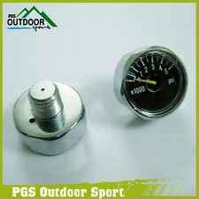 A Lots of 2x 5000 PSI Paintball Mini Micro Air Co2 Pressure Gauge 1/8NPT Threads
