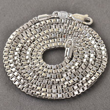 Cool 9K Silver/White Gold Filled Box Mens Chain Necklace,24 Inch,Z3677