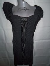 rk NWT Taboo corset black lace up vamp wiggle wench gothic Lolita vixen dress M