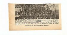 Colorado Colorado Springs Mountain Lions College 1928 Football Team Picture RARE