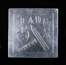 TEACHER 925 tm-138 MEXICO  STERLING SILVER VINTAGE BROOCH/PENDANT APPLE SUN 1397