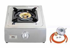 NJ NGB1 Gas Stove Cooktop Burner Portable Camping Outdoor Piezo 3.8kW WOK NEW