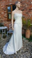 WATTERS & WATTERS IVORY BODICE SKIRT TRUMPET MERMAID WEDDING DRESS 14