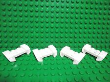 Lego 4 White 2x4 mudguard flared with headlights car truck NEW
